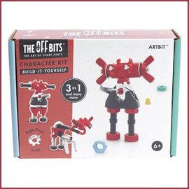 Offbits Offbits bouwpakket: Karakter Kit 3-in-1 ARTBIT rood