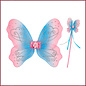 Souza for kids Elfenset Adrienne, vleugels + toverstaf, roze/blauw