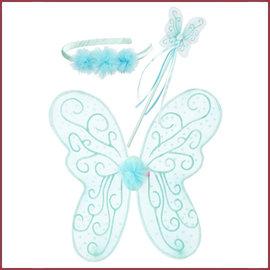Souza for kids Elf set Francine, vleugels-toverstaf-diadeem, mint