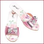 Souza for kids Slipper hoge hak Bindi, vlinder print roze
