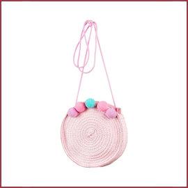 Souza for kids Tas Anine, licht roze met pompons