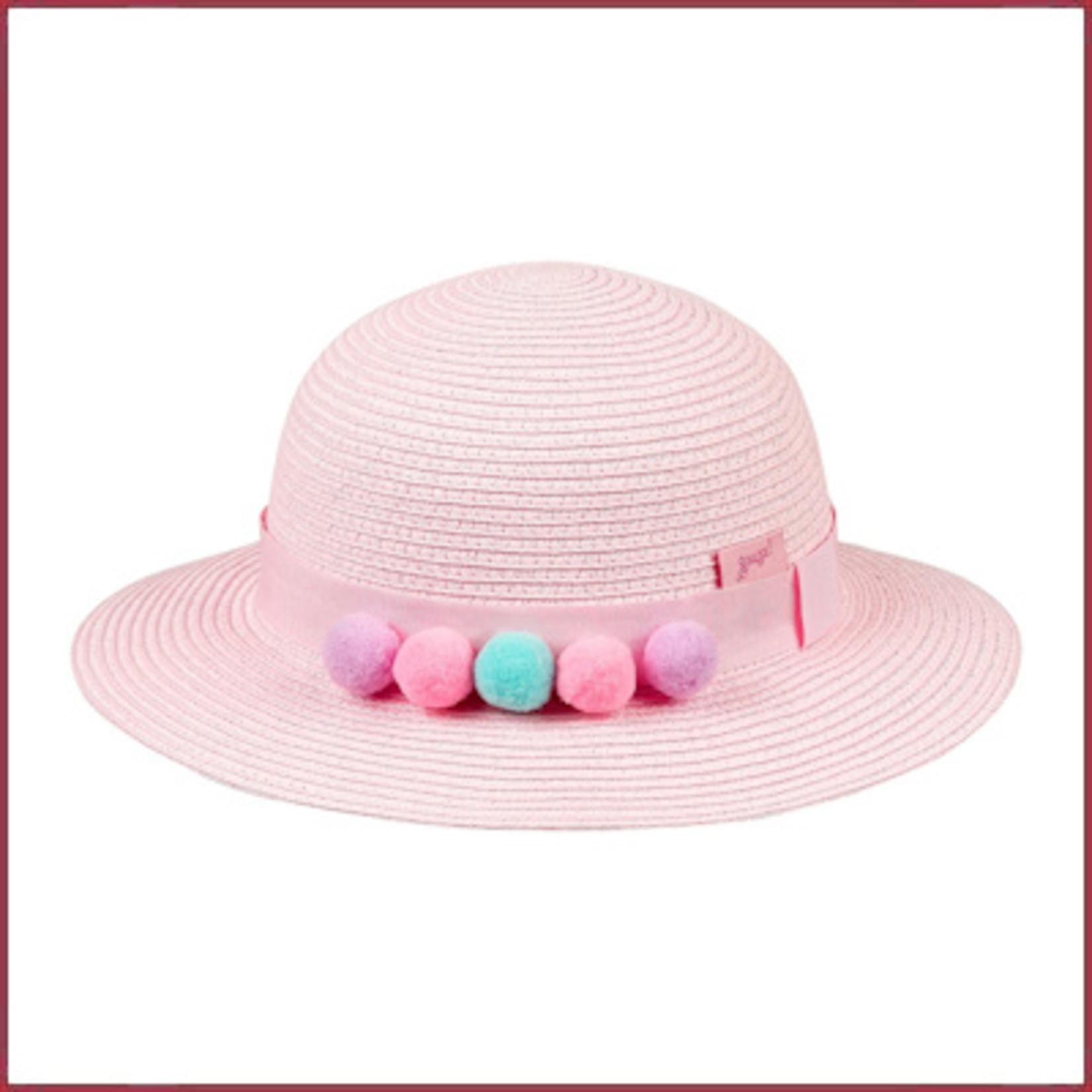 Souza for kids Hoed Anine, licht roze met pompons
