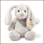 Steiff Knuffel Konijn Hoppie , licht grijs 28 cm