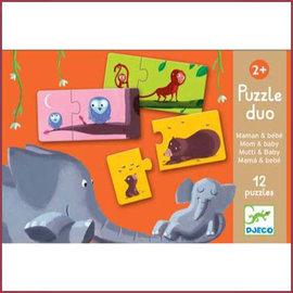Djeco Duo puzzel Moeder en kind