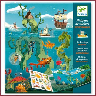 Djeco Stickers - avonturen op zee