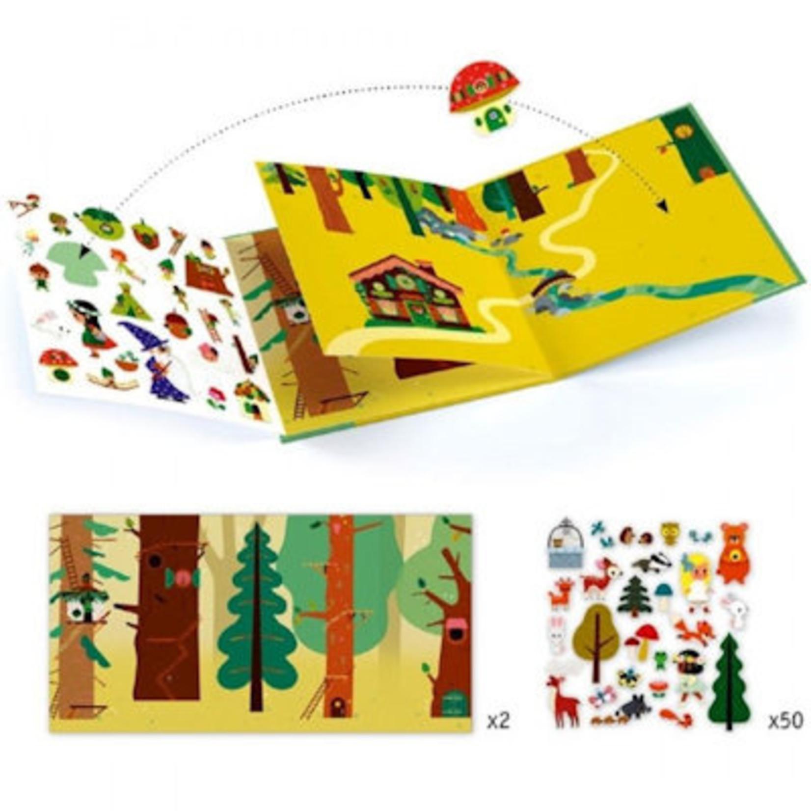 Djeco Stickers - Het toverbos