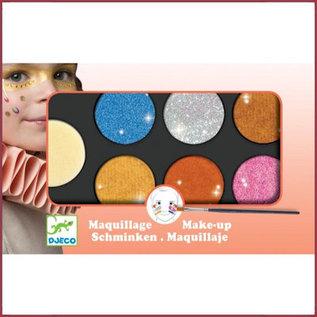 Djeco Schmink 6 kleuren metallic