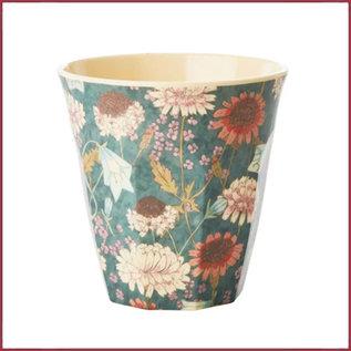 Rice Rice Melamine Cup met Fall Flower Print - Medium