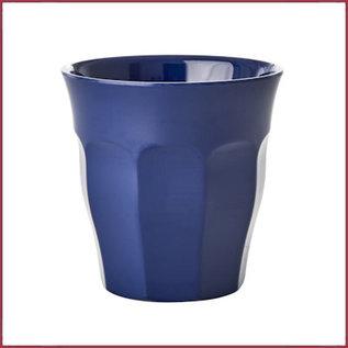 Rice Rice Melamine Cup in Navy Blue - Medium