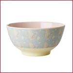 Rice Rice Melamine Bowl met Feather Print - Two Tone - Medium