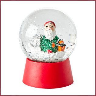 Rice Rice Snow Globe met Xmas Elf Figurine