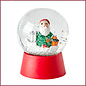 Rice Rice Snow Globe met Xmas Elf Figurine