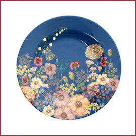 Rice Rice Side Plate met Flower Collage Print