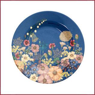 Rice Rice Melamine Side Plate met Flower Collage Print
