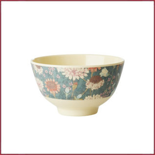 Rice Rice Melamine Bowl met Fall Flower Print - Small