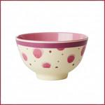 Rice Rice Melamine Bowl met Watercolor Splash  Print - Two Tone - Small