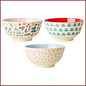 Rice Rice Melamine Bowl Assortie Christmas Prints - Medium