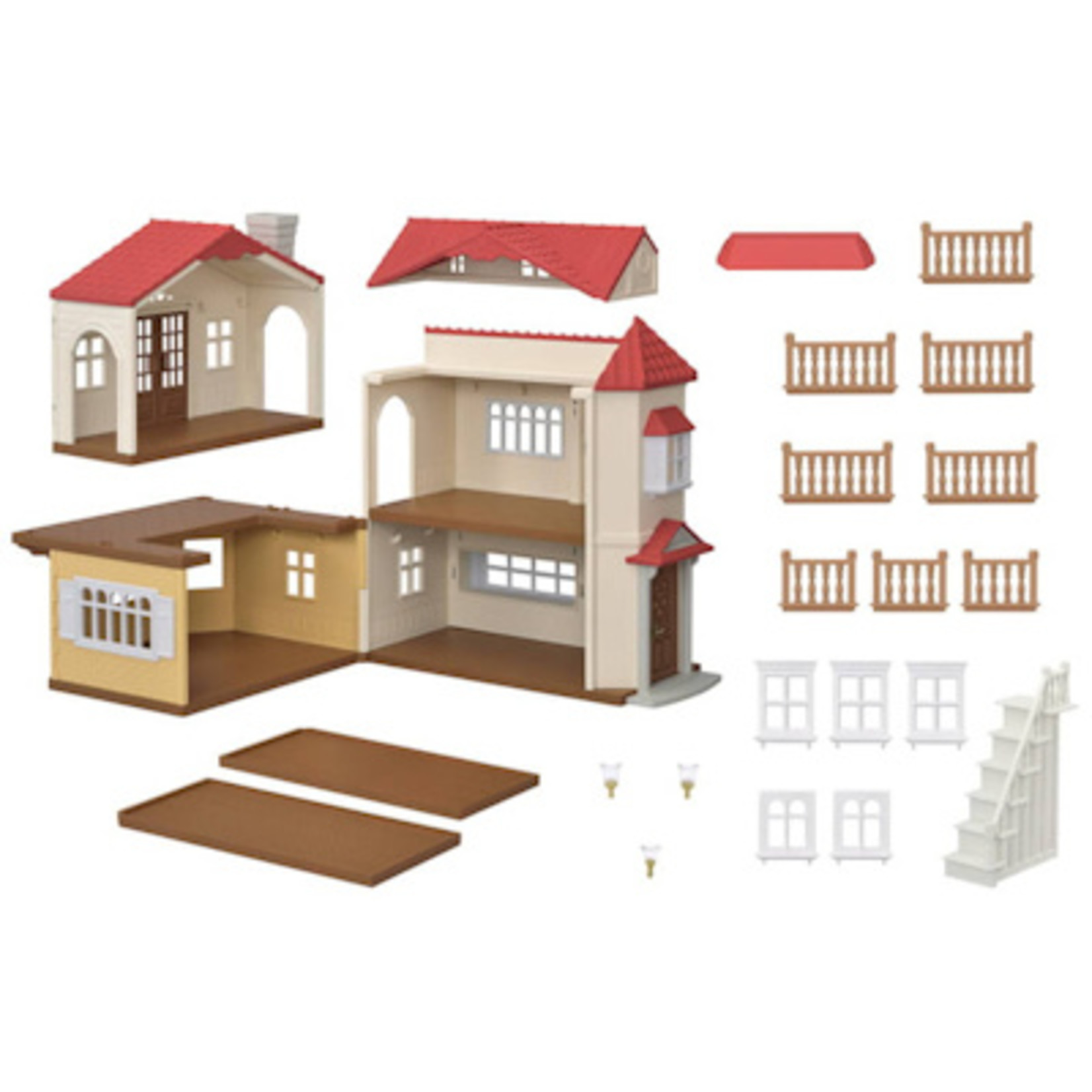 Sylvanian Families Landhuis met rood dak