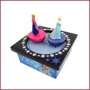 Muziekdoos magneet Frozen Elsa en Anna