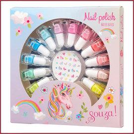 Souza for kids Nagellak cadeauset 12 kleuren + nagel stickers (
