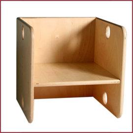 Van Dijk Toys Kubusstoel voor Peuters 29x29x29