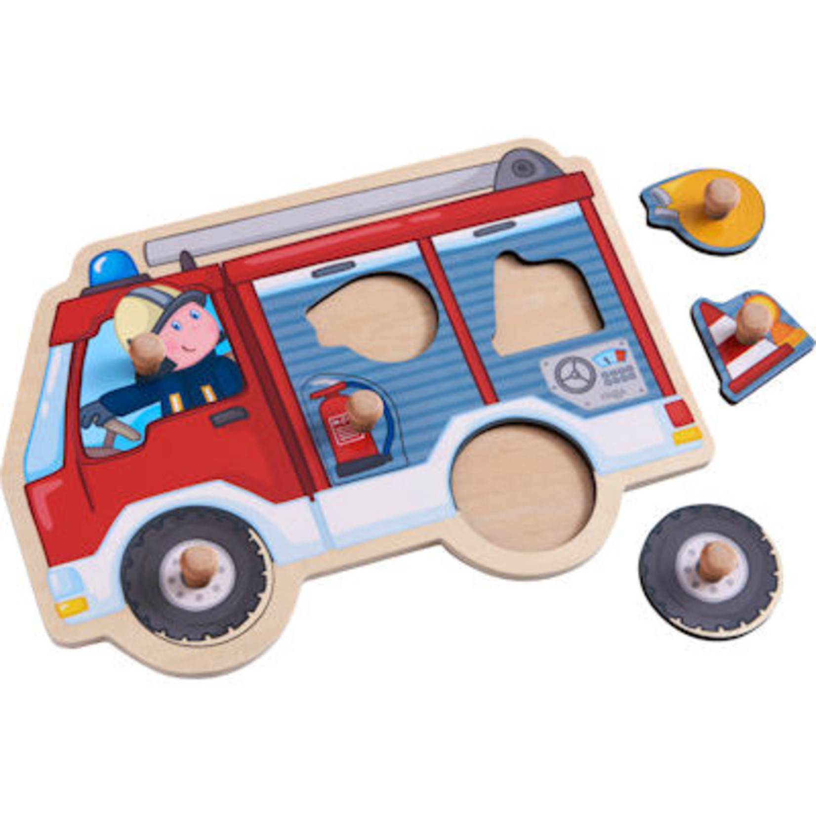 Haba Houten inlegpuzzel Brandweerauto