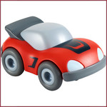 Haba Kullerbü knikkerbaan - rode sportwagen