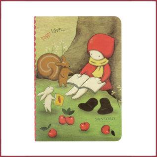 Santoro Poppi Loves notitieboekje met stickers