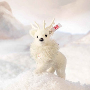 Steiff Winter Rendier ornament, wit