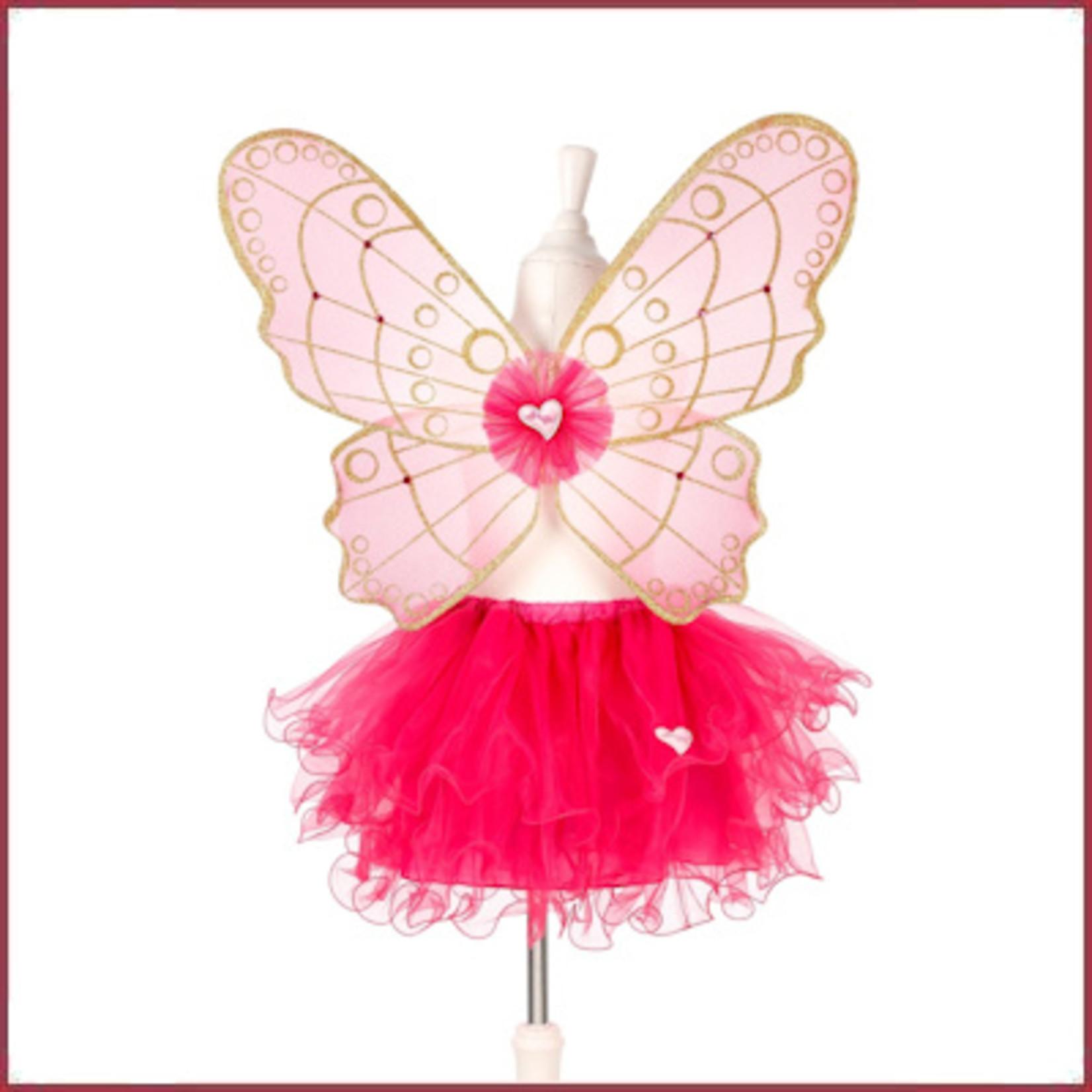 Souza for kids Babette rok + vleugels, fuchsia, verstelbaar