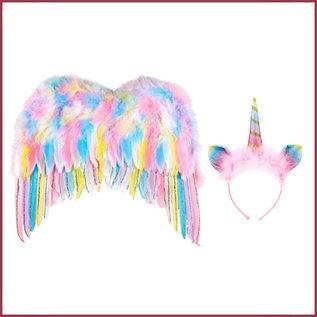 Souza for kids Vleugels en Haarband Eenhoorn - Unicorn