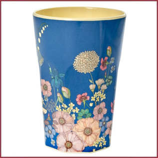 Rice Rice Melamine Cup met Flower Collage Print - Tall
