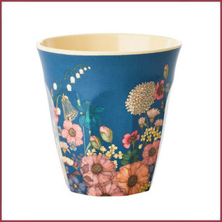 Rice Melamine Cup with Flower Collage Print - Medium