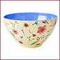 Rice Melamine Salad Bowl with Selmas Flower Print - Two Tone