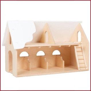 Van Dijk Toys Houten Boerderij - wit dak
