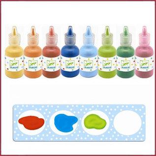 Djeco 8 flesjes waterverf voor de kleintjes