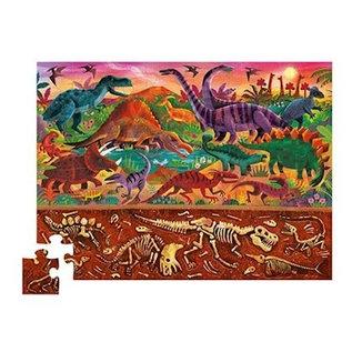Crocodile Creek Puzzel onder en boven - Dinowereld - 48st