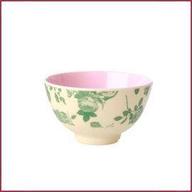 Rice Rice Bowl Two Tone small - Groene Roos print