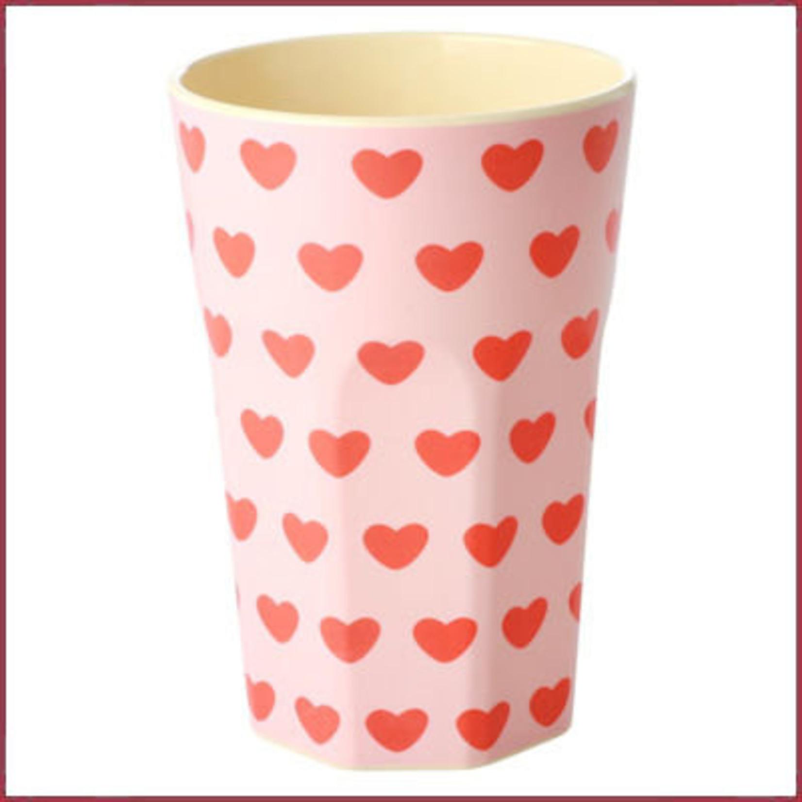 Rice Rice Cup Tall Sweet Hearts Print
