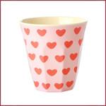 Rice Rice Cup Medium Sweet Hearts Print