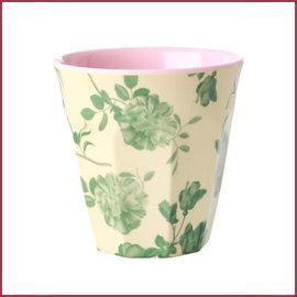 Rice Rice Cup Two Tone Medium met Groene Roos Print