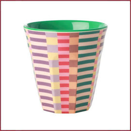 Rice Rice cup Two Tone medium met Zomer Strepen print