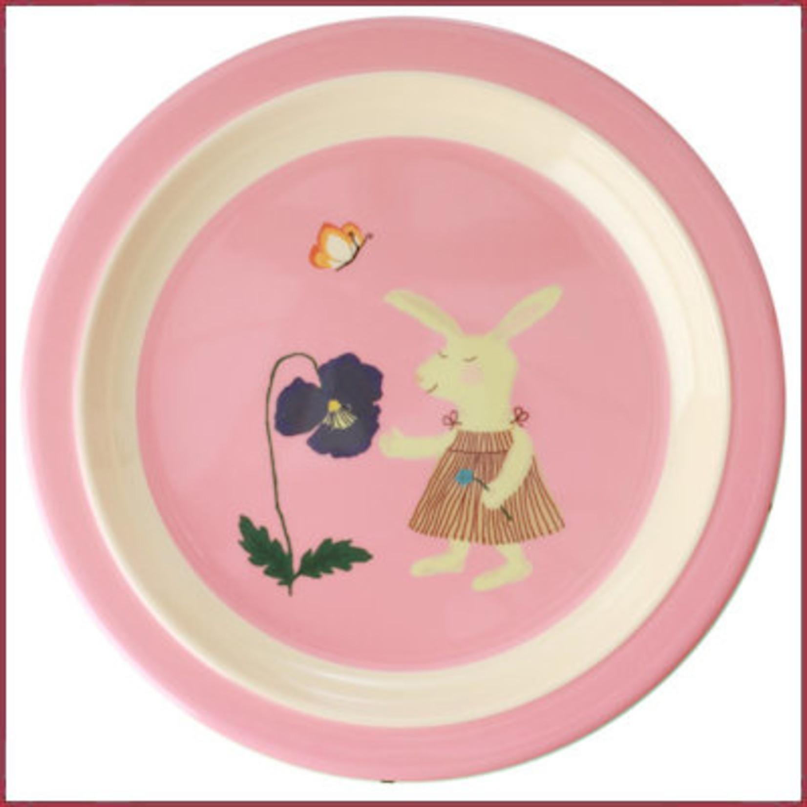 Rice Rice Kids Lunch bordje Bunny Print
