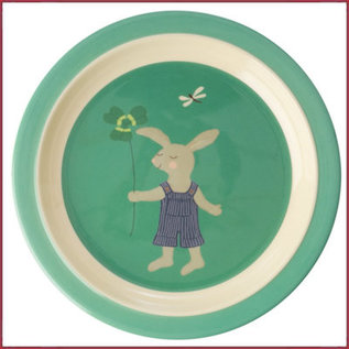 Rice Rice Kids Lunch bordje Bunny Print