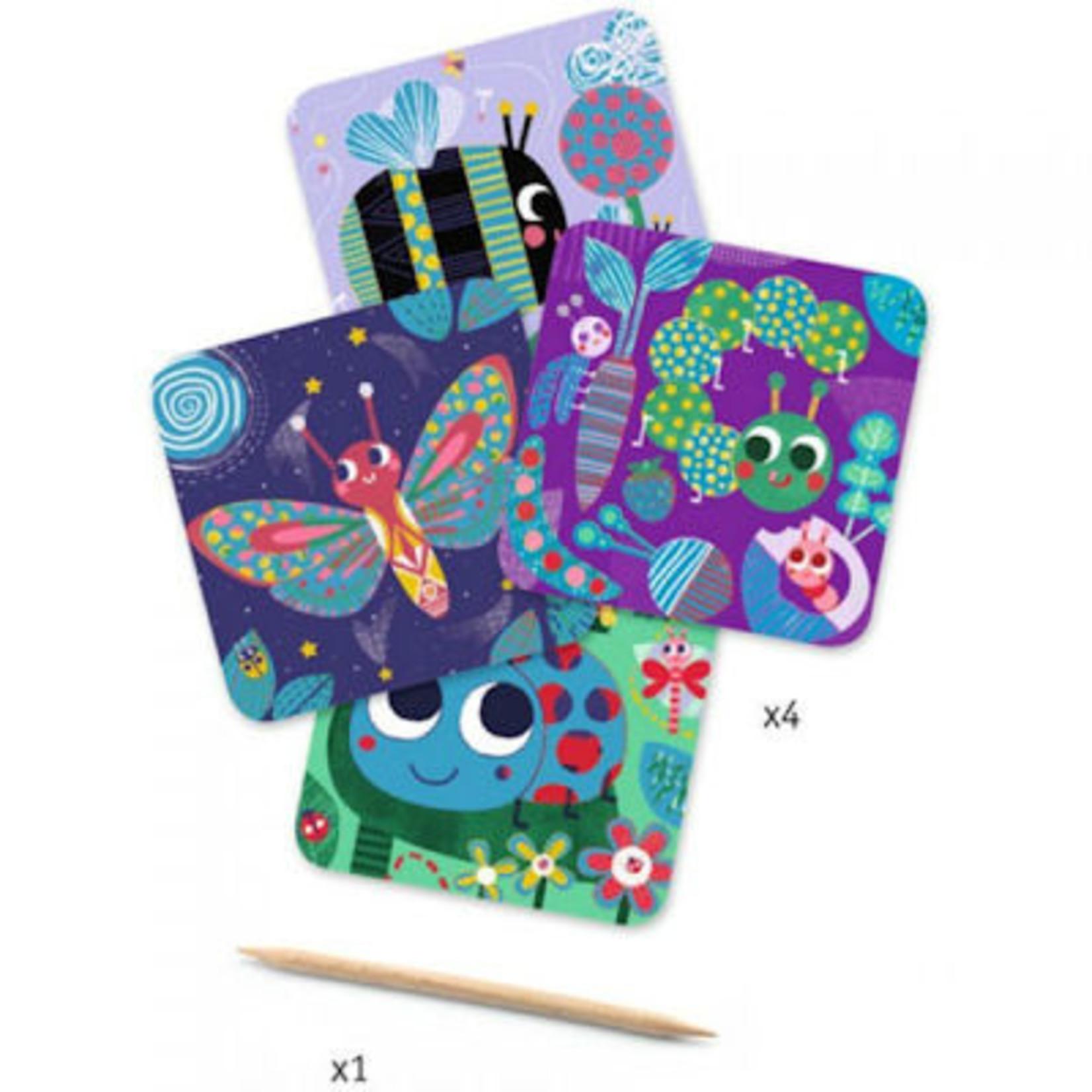 Djeco Scratchcard voor de kleintjes - Insecten