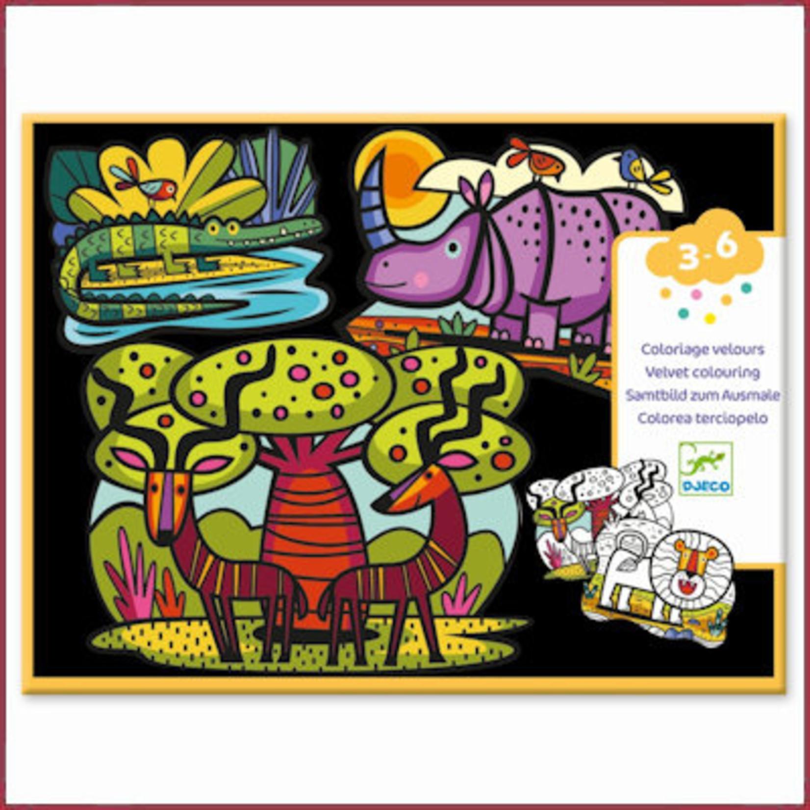 Djeco Viltkleurplaten - dieren van de savanne