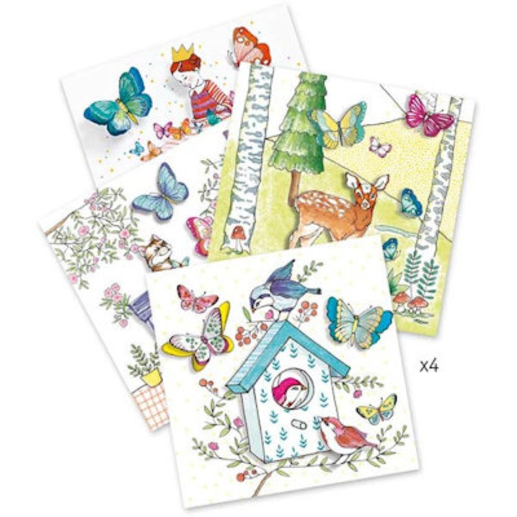 Djeco Verrassende kleurplaten - lady butterfly
