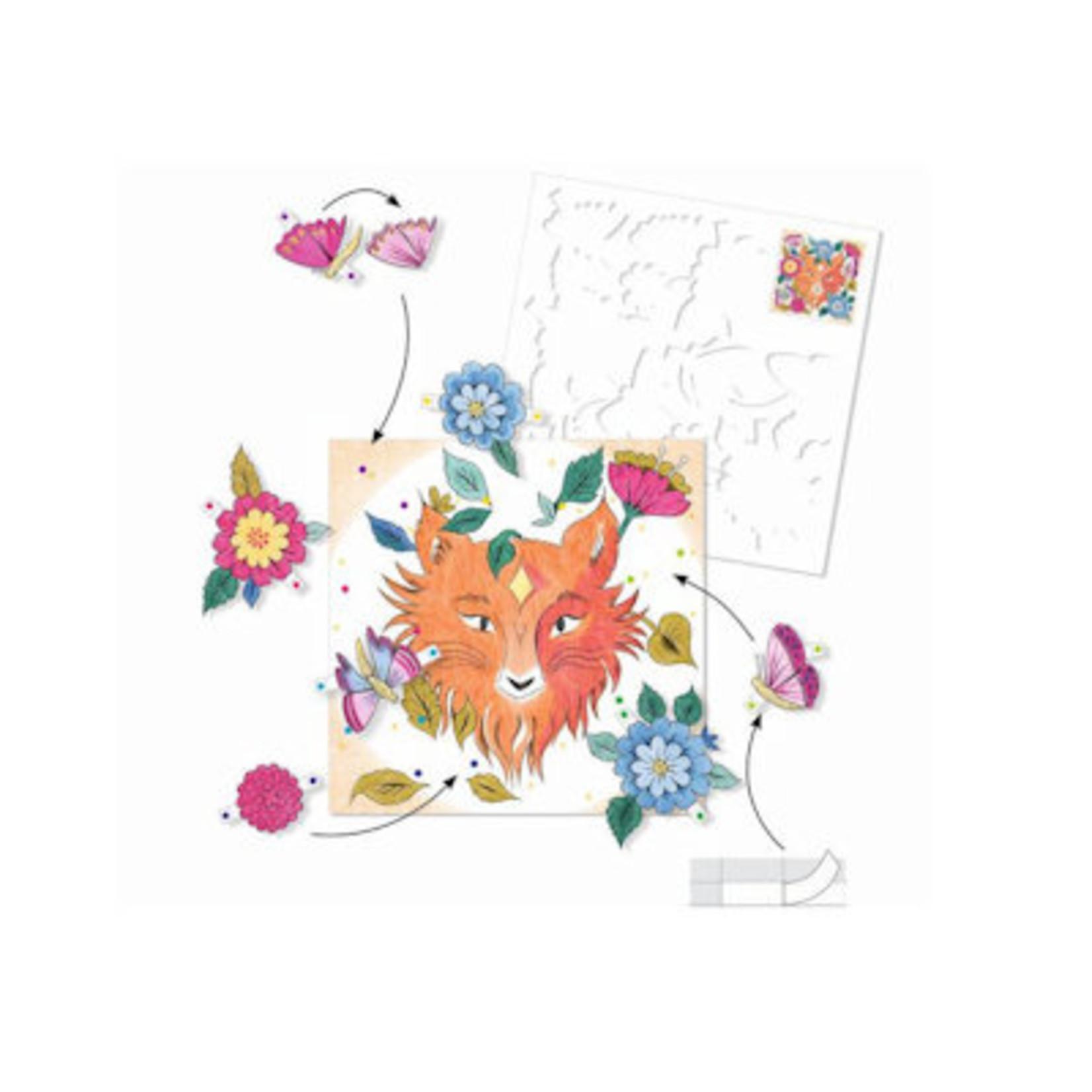 Djeco Verrassende kleurplaten - Bosvriendjes