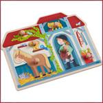 Haba Knoppuzzel In de paardenstal