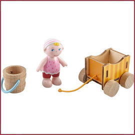 Haba Little Friends - Baby Nora & wagen